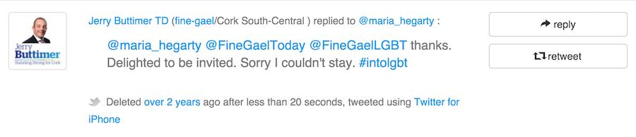 First Tweet in Cartlann Jerry Buttimer TD
